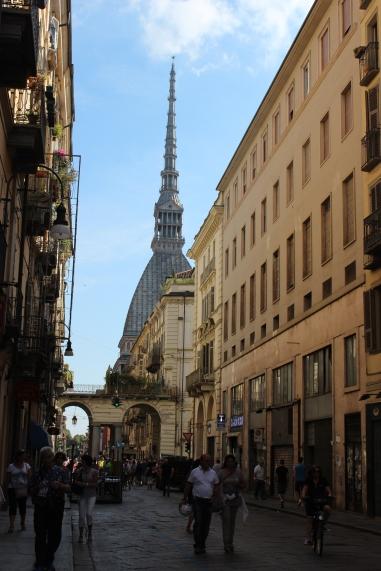 the spire of the Mole Antonelliana peeking over the cityscape
