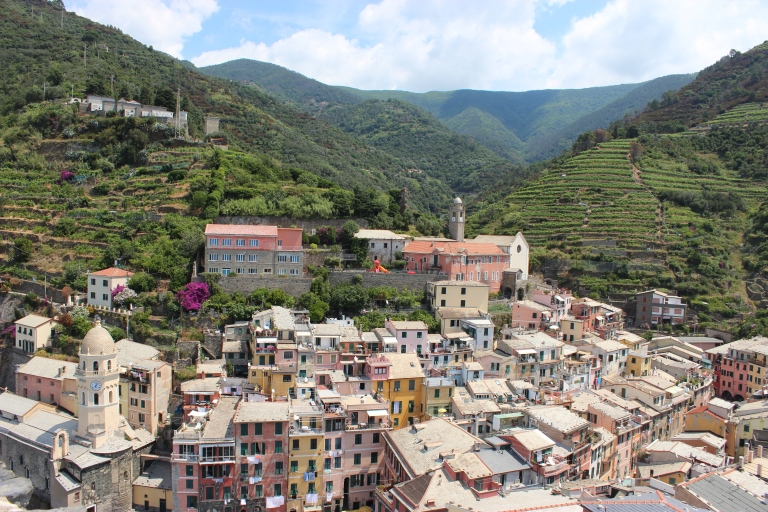 The town of Vernazza, view from Castello Doria