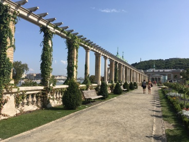 The gardens of Buda Castle